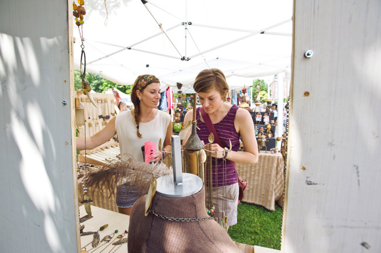 Shoppers at the Lily in Flux booth. (image by Haley Neale of Little Robot Photography © 2015)