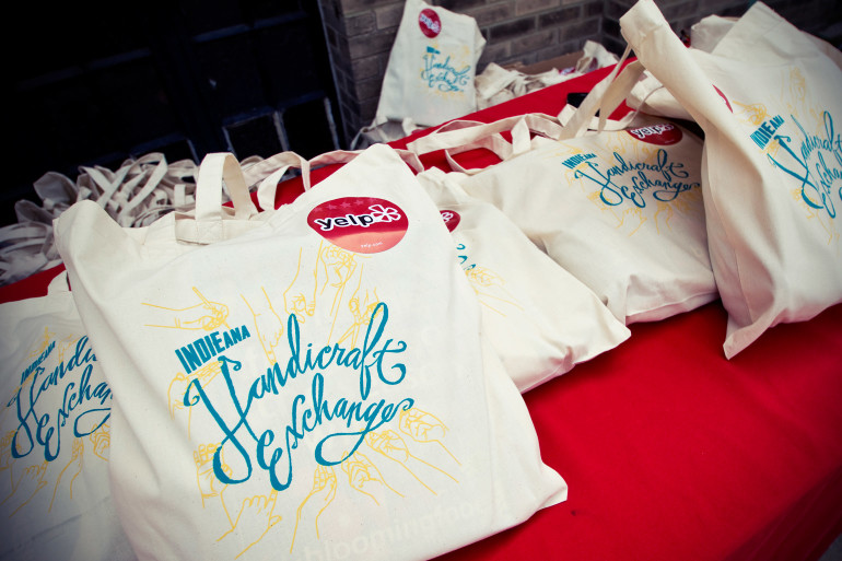 Swag bags! Free to the first 100 patrons in line. (image by Haley Neale of Little Robot Photography © 2014)